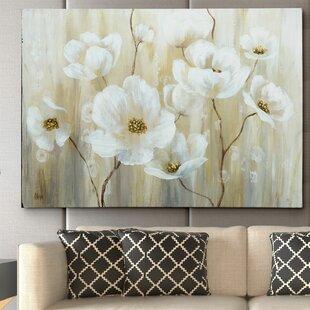 flower paintings amp botanical wall art you ll love wayfair