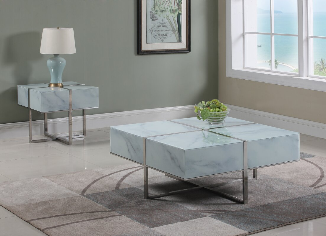Orren ellis tiyrene 2 piece coffee table set wayfair tiyrene 2 piece coffee table set geotapseo Choice Image