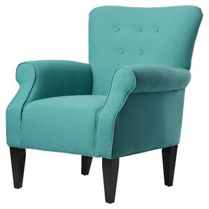 Delia Button Back Armchair by Alcott Hill