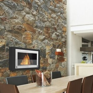 Montreal Wall Mount Ethanol Fireplace by Eco..