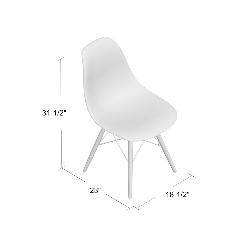 Whiteaker Molded Plastic Dining Chair