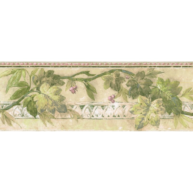 Fleur De Lis Living Fries Berries On Vine Faux Paint Wall Border Wayfair