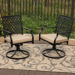 Gates Swivel Patio Dining Chair With Cushion Set Of 2
