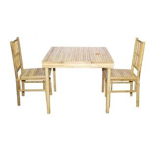 3 Piece Solid Wood Dining Set