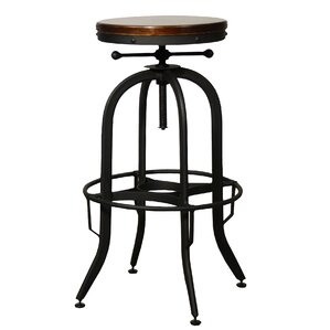 Del City Adjustable Height Swivel Bar Stool