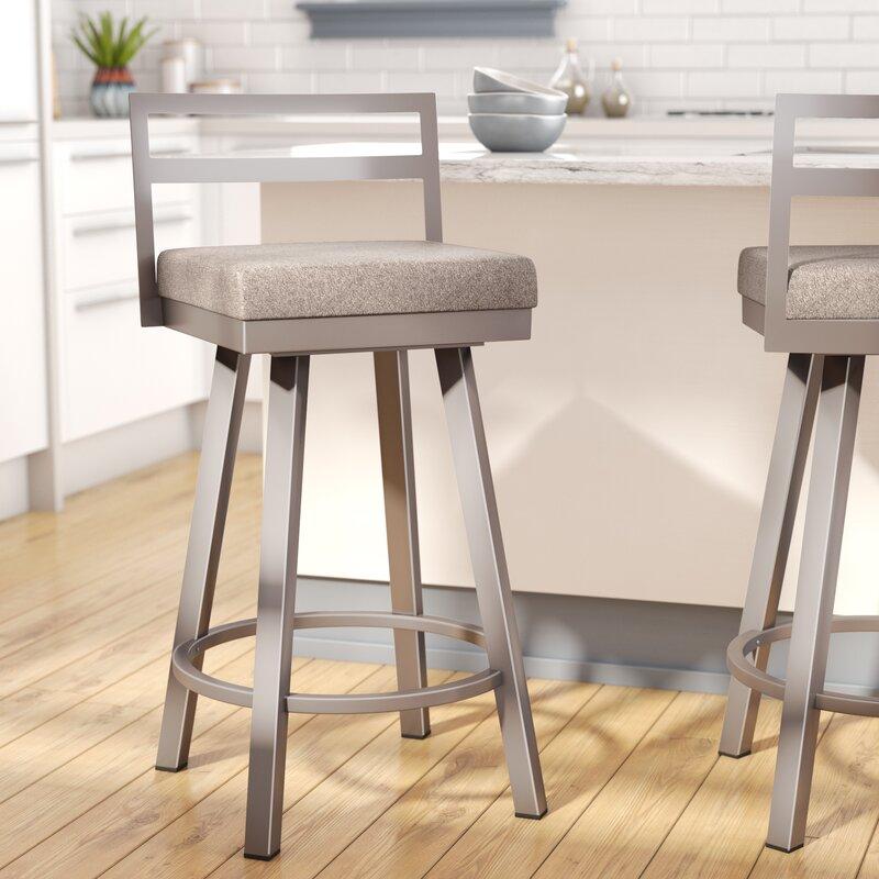 "Swivel Bar Chair brayden studio penton 26.75"" swivel bar stool & reviews | wayfair"