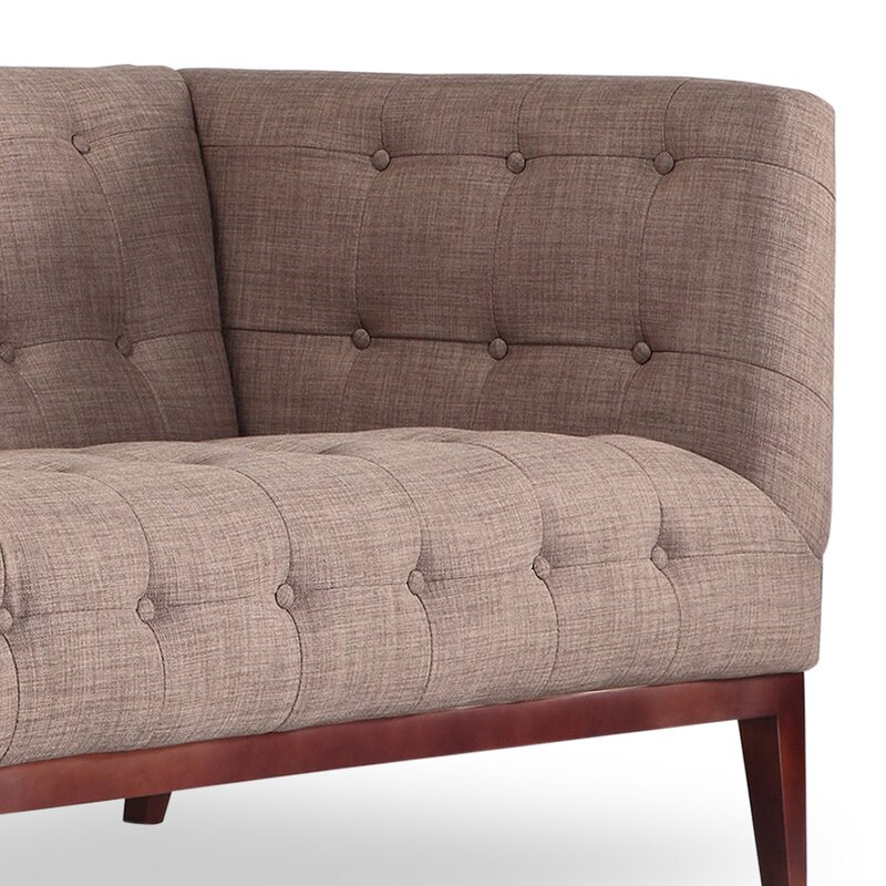Margaret Mid Century Modern English Tufted Chesterfield Sofa