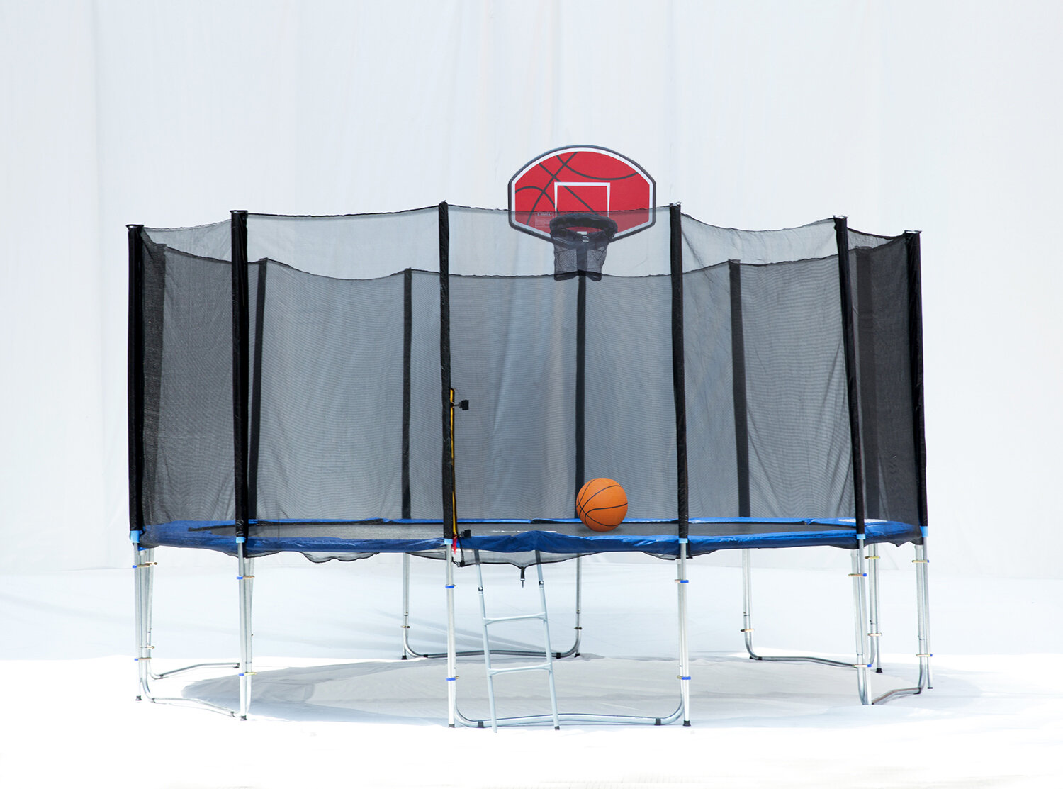 Exacme 16' Round Trampoline with Safety Enclosure Net and Basketball Hoop
