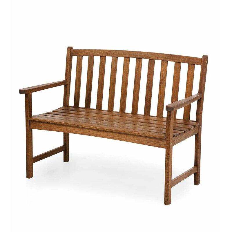 Hearth Bench: Plow & Hearth Lancaster Eucalyptus Wood Garden Bench
