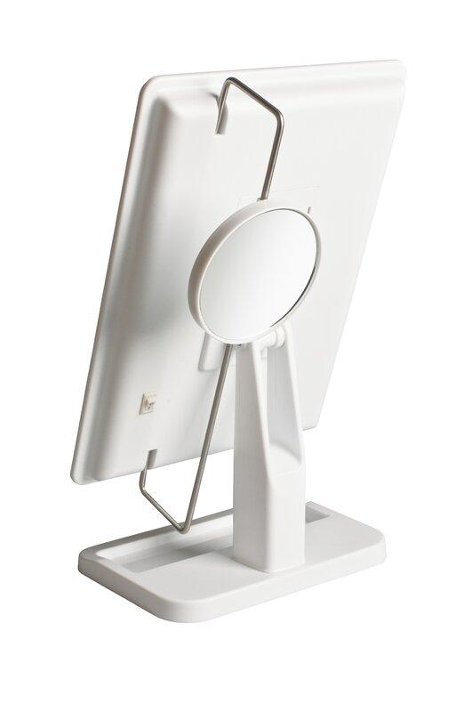 Rebrilliant Portable Led Lighted Rectangle Tabletop Makeup
