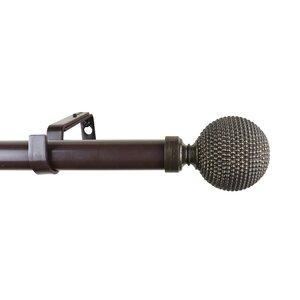Giato Adjustable Single Drapery Curtain Rod & Hardware Set