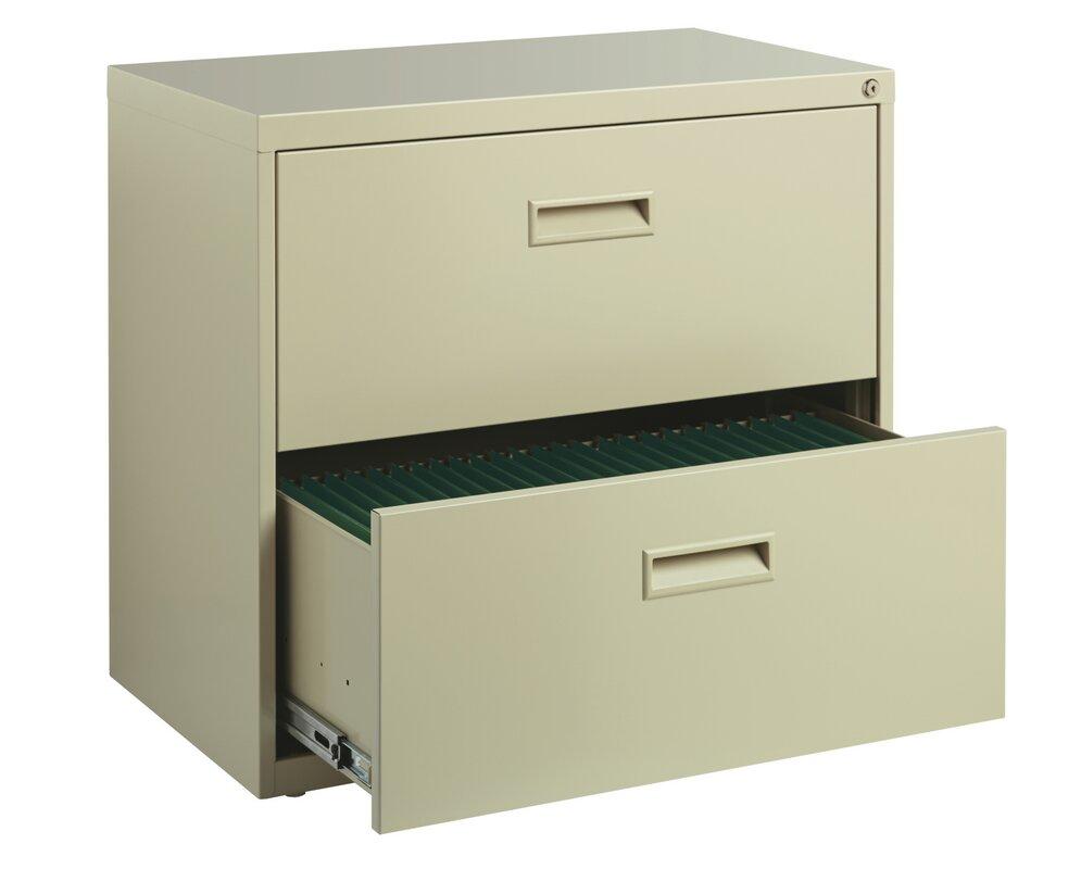 Wade Logan Walt 2 Drawer Lateral Filing Cabinet Reviews Wayfair