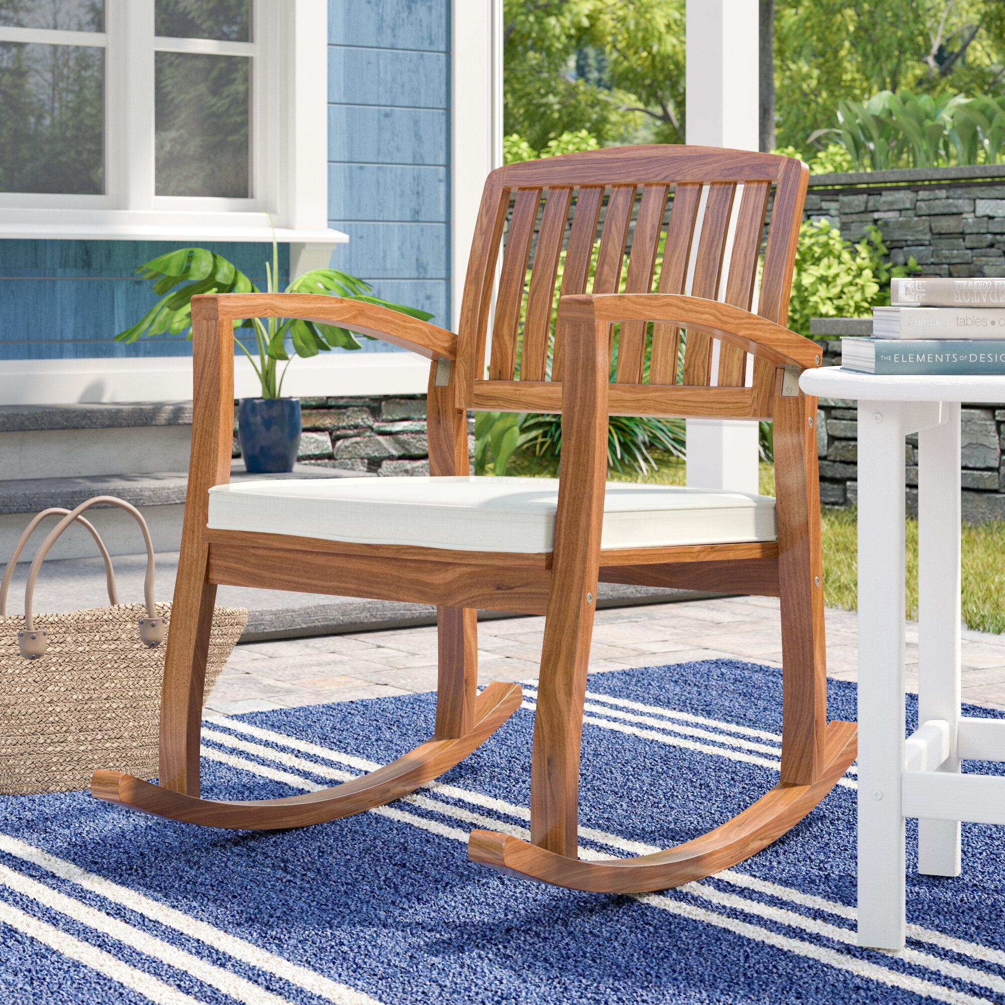Highland dunes kairi rocking chair with cushion reviews wayfair
