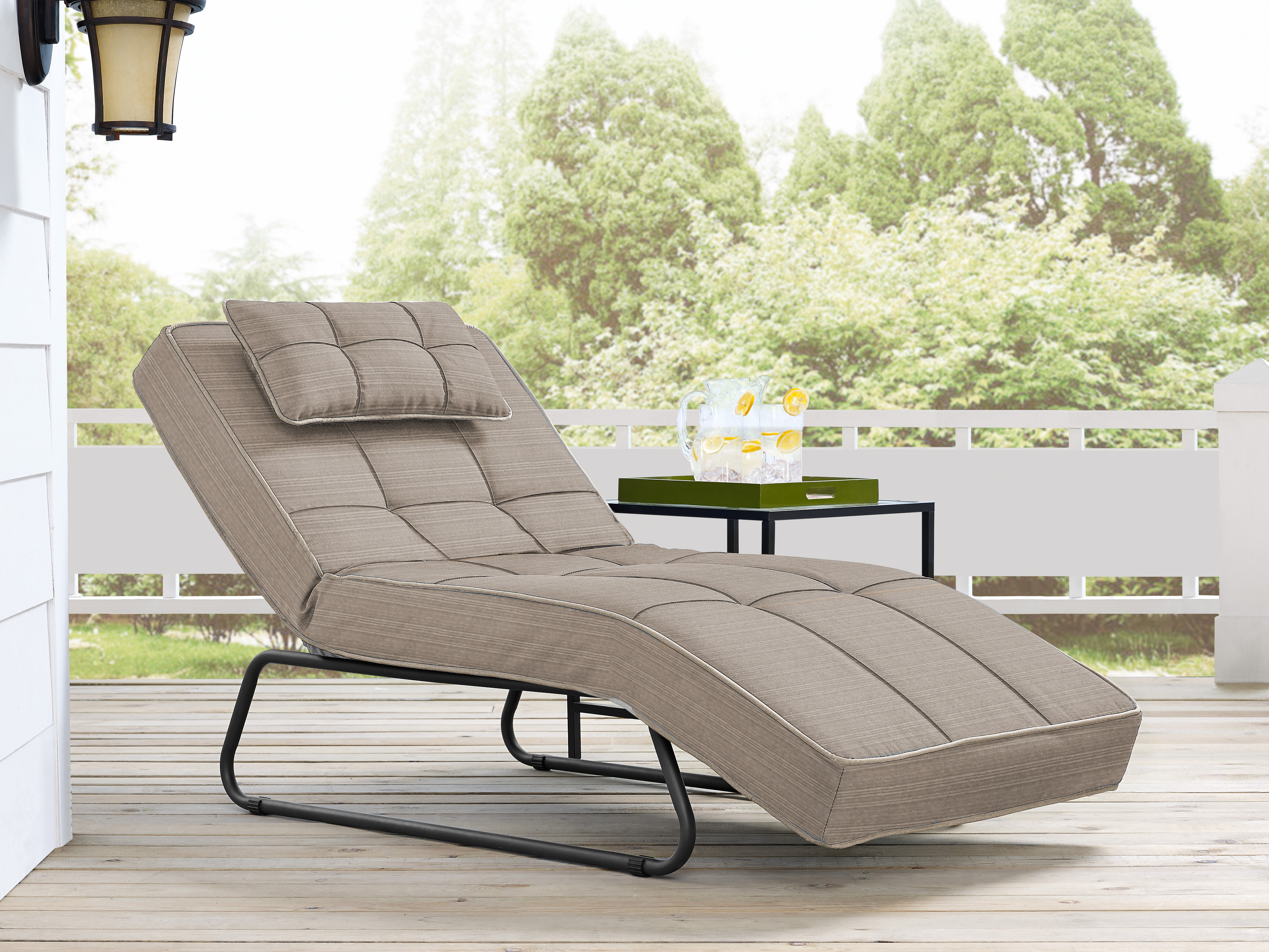 e85f02097a2e9 Latitude Run Andrew Reclining Chaise Lounge with Cushion   Reviews ...