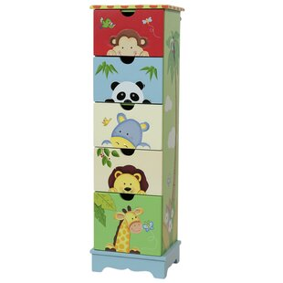 Sunny Safari 5 Drawer Chest of Drawers by Fantasy Fields Teamson
