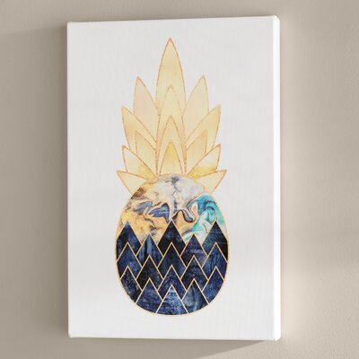 Wrought Studio 'Precious Pineapple I' Photographic Print Format: Canvas, Size: 18 H x 12 W x 1.5 D