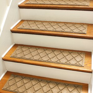 Nice Aqua Shield Gold Argyle Stair Tread (Set Of 4)