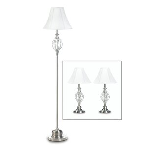 Mather 3 Piece Table and Floor Lamp Set