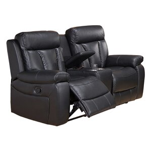 Plymouth Leather Reclining Loveseat by Coja