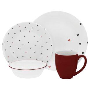 Vive Polka Dottie 16 Piece Dinnerware Set Service for 4  sc 1 st  Wayfair & Polka Dot Dinnerware | Wayfair