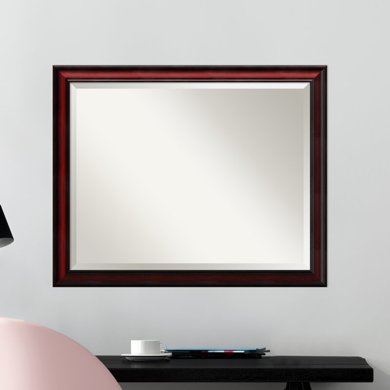 Darby Home Co Cherry Wood Accent Wall Mirror & Reviews