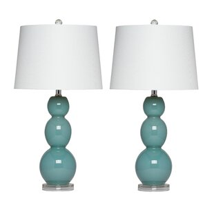 Aqua Glass Lamp Wayfair