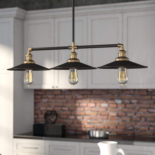 Top 50 Best Kitchen Island Lighting Ideas: Dobson 3-Light Kitchen Island Pendant & Reviews