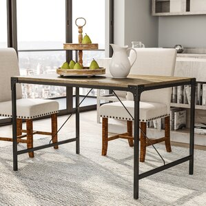 Madeline Angle Iron and Wood Dining Ta..