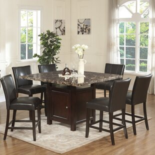 Heffington 7 Piece Counter Height Dining Set