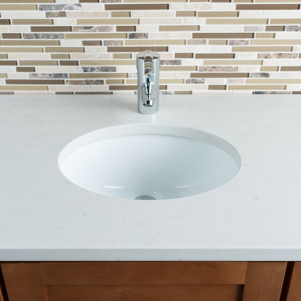 Hahn Ceramic Oval Undermount Bathroom Sink with Overflow & Reviews ...