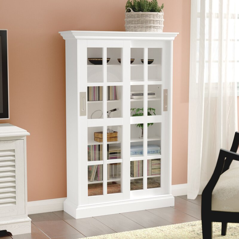 Laurel Foundry Modern Farmhouse Sliding Door Multimedia Cabinet In