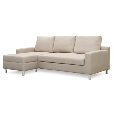 Wrought Studio Falgoust Sectional Upholstery Color: Beige, Orientation: Left Hand Facing