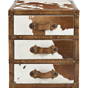 Walker Hair-on-Hide 3 Drawer Accent Chest
