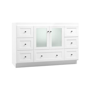 Frosted glass pantry door wayfair for Bathroom vanity with frosted glass doors