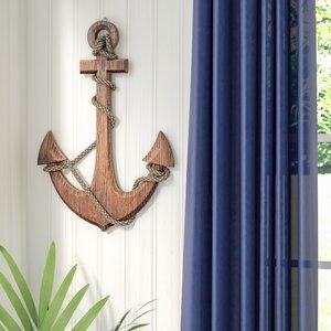 Nautical Wood Anchor Wall Decor