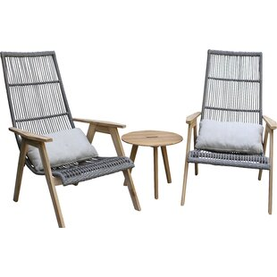 Kennebunkport Teak And Wicker Basket Lounge Chair (Set Of 2)