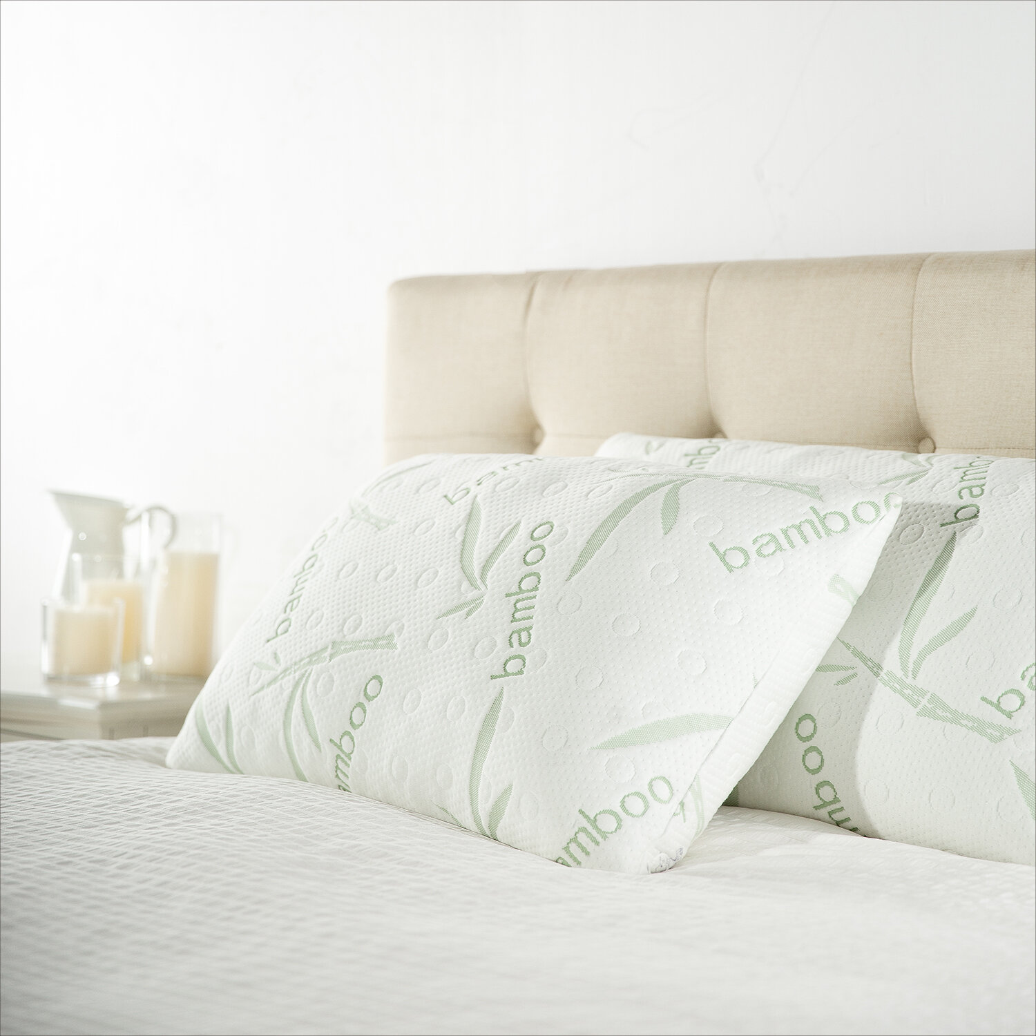 comfort memory product foam pillow bamboo products size queen aesir image shredded cover