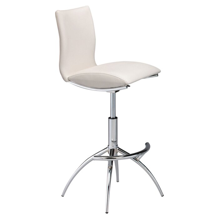 guttenberg adjustable height swivel bar stool