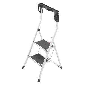 Safety Plus 2 Step Steel Step Ladder