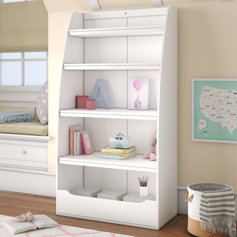 "Viv + Rae Besse Kids 4 Shelf 60"" Bookcase & Reviews | Wayfair"