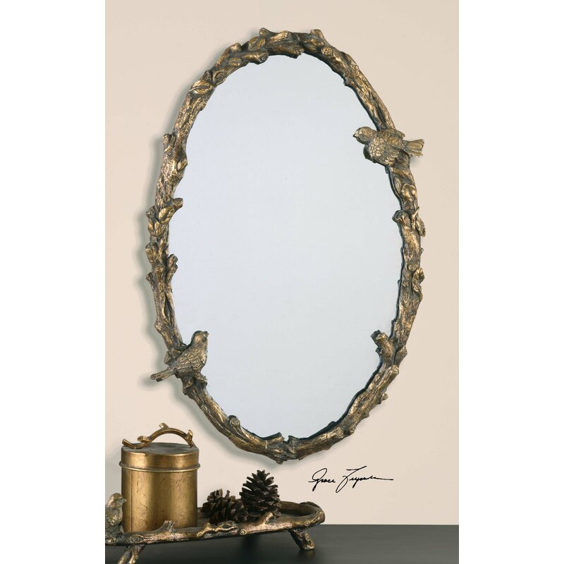Eliana Oval Mirror In Antique Gold Leaf Reviews Joss Main