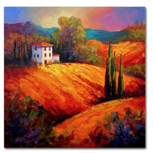 f345d9fd819  Tuscan Villa Evening  Painting Print on Wrapped Canvas