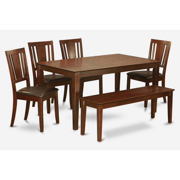 Wooden Importers Lynfield 6 Piece Dining Set: Wooden Importers Capri 6 Piece Dining Set