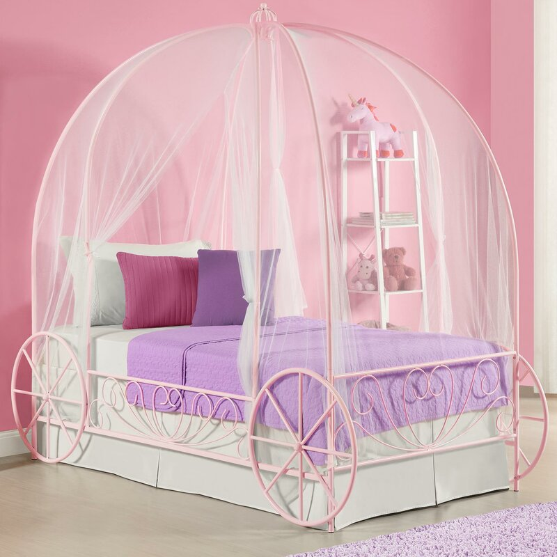Brandy Twin Canopy Bed & Zoomie Kids Brandy Twin Canopy Bed u0026 Reviews | Wayfair
