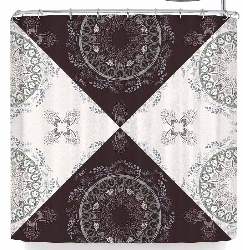 Famenxt Cocoa Mandala Shower Curtain