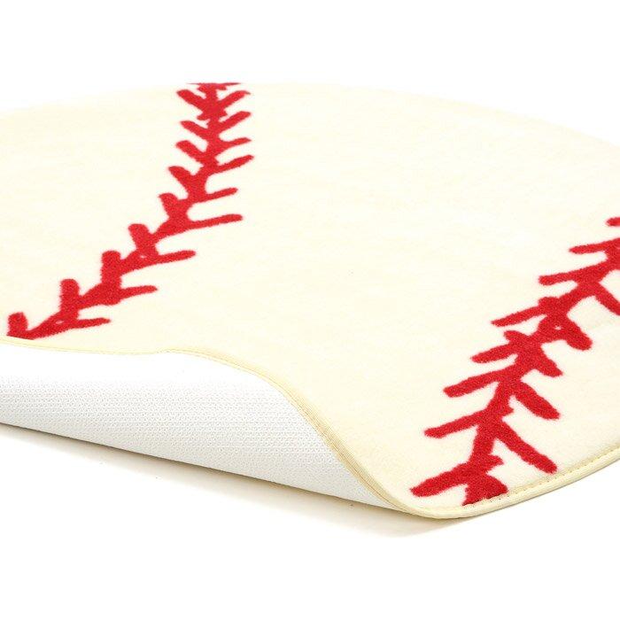 Baseball Rug: Fun Rugs Fun Shape High Pile Baseball Sports Area Rug
