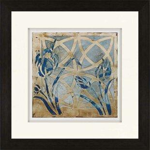 U0027Stained Glass Indigo IIIu0027 Framed Graphic Art