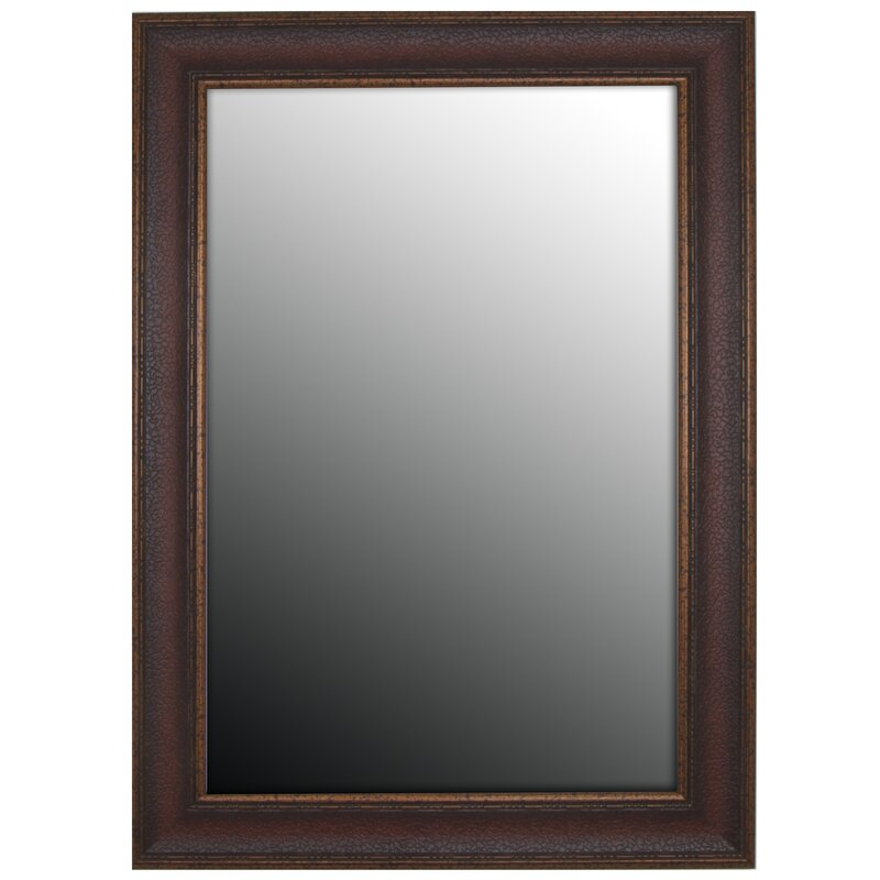 Bronze Wall Mirror second look mirrors copper embossed bronze wall mirror & reviews
