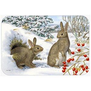 Winter Rabbits Kitchen/Bath Mat