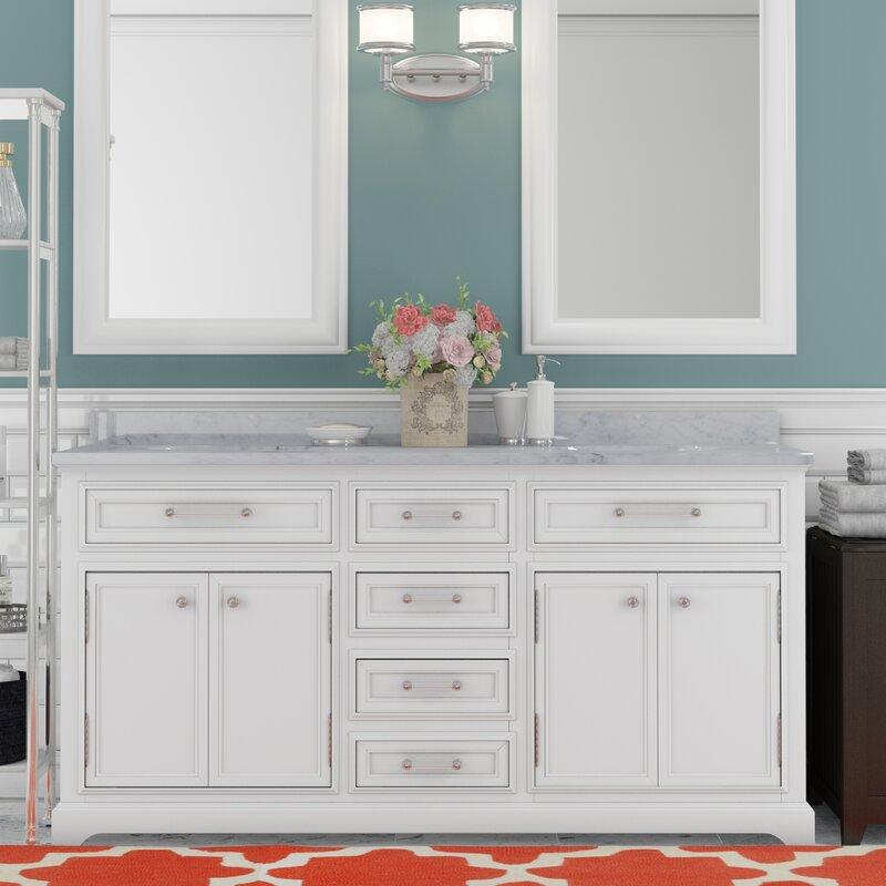 Bergin Double Sink Bathroom Vanity Set